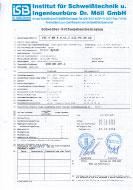 11. Schweißer Prüfungsbescheinigung EN 287-1: 141 T BW 8 S t1,5 D12 PC ss nb